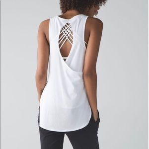 Lululemon Cruiser Tank Open Back White Pima Cotton